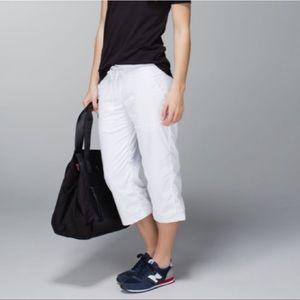 Lululemon White Dance Studio Lined Cropped Pants